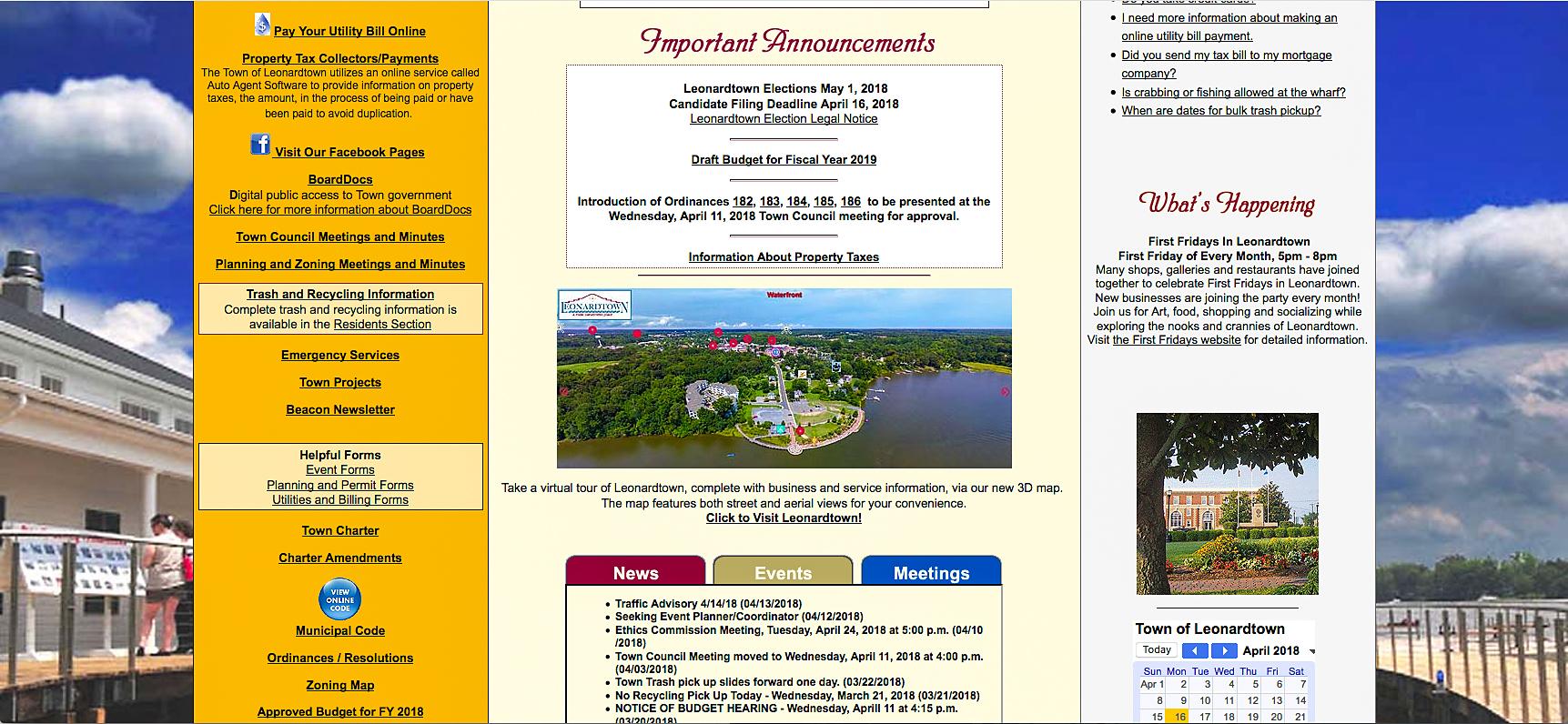 Leonardtown, MD website