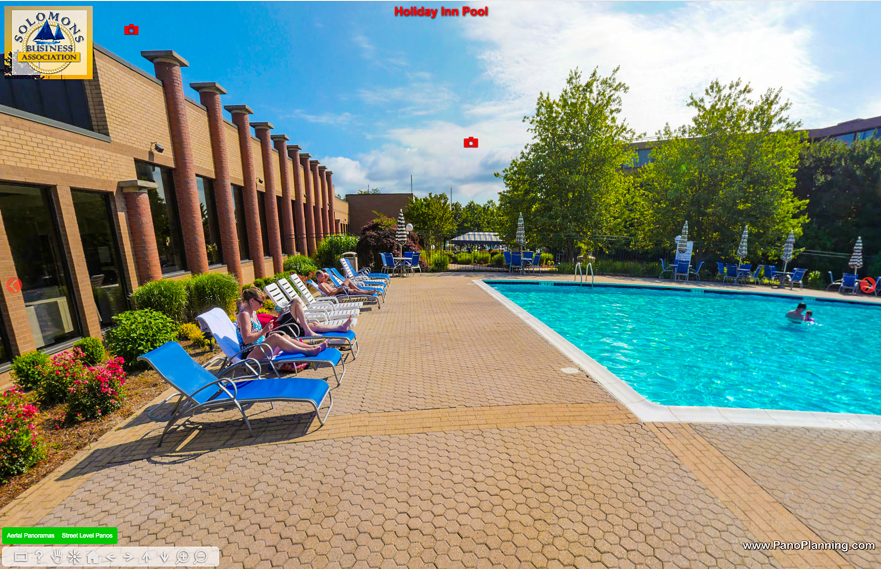 Holiday Inn pool, Solomons, Maryland.