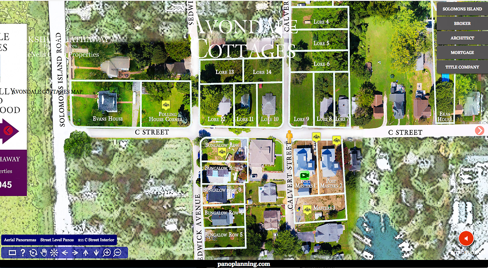Aerial view of lots available in real estate Virtual Discovery Tour