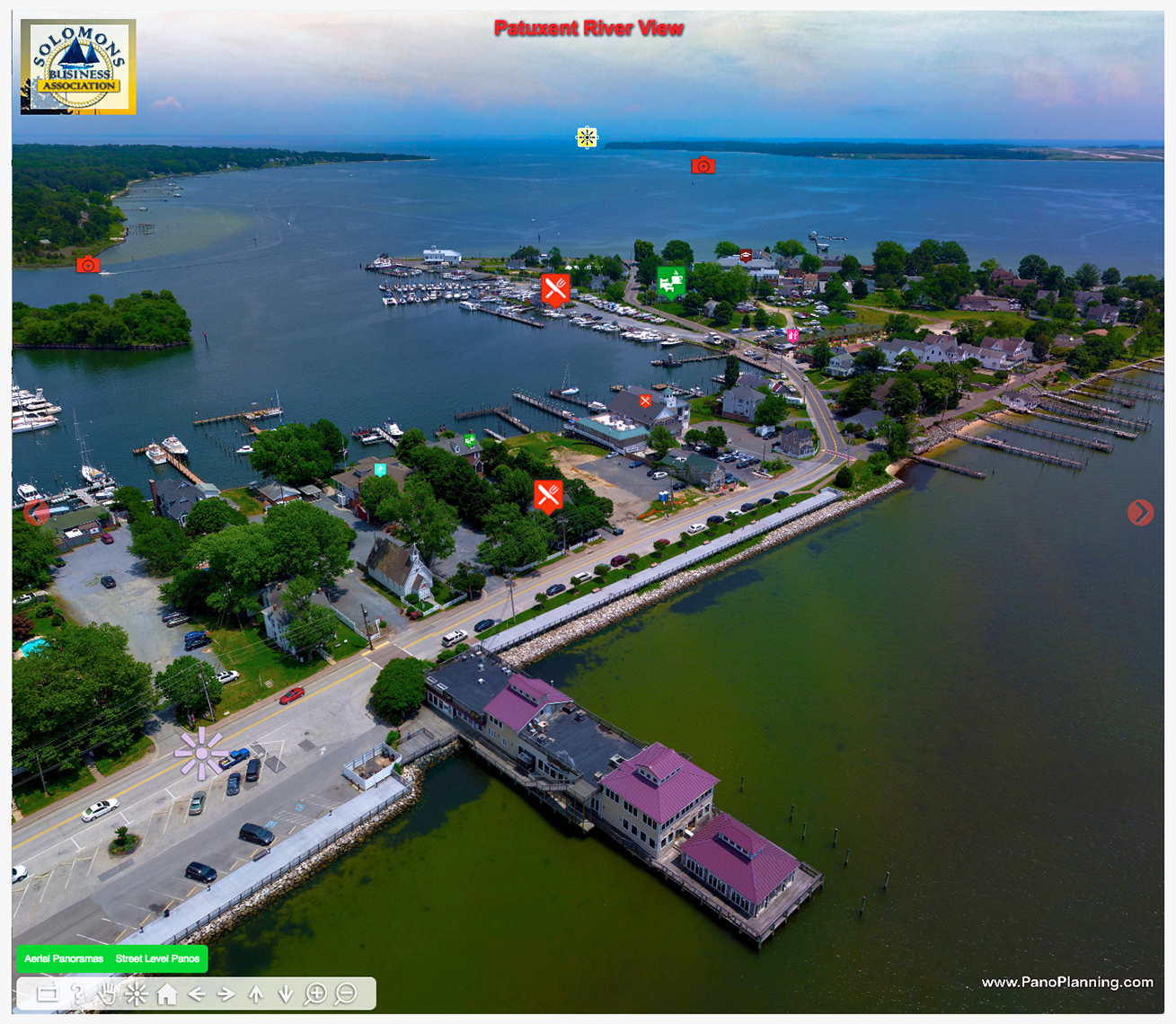 PanoPlanning's Virtual Discovery Tour of Solomons Island, MD.